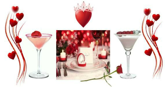 Романтические коктейли к 14 февраля